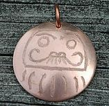 Copper Daruma Pendant by WhisperingElmsStudio on Etsy Niagara Region, Jewelry Branding, Artisan Jewelry, Great Gifts, Copper, Design Inspiration, Unique Jewelry, Japanese, Studio
