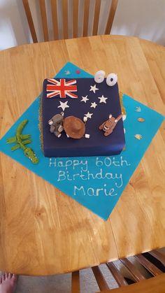 Happy 60th birthday Australian themed