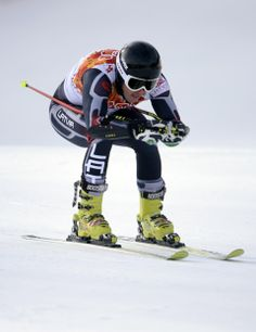 DAY 13:  Kristaps Zvejnieks of Latvia competes during the Alpine Skiing Men's Giant Slalom http://sports.yahoo.com/olympics