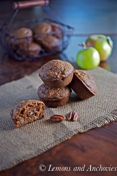 Apple-Pecan Quinoa Muffins from @Jean | Lemons and Anchovies