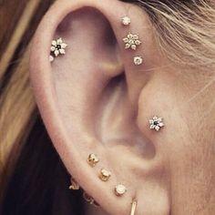 Ideen für Ohr-Piercings