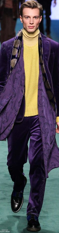 Etro Fall 2015 Menswear | Men's Fashion | Moda Masculina | Shop at designerclothingfans.com
