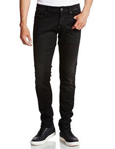 G-Star Raw Men's Revend Super Slim Fit Jean In Slander Black Superstretch Aged