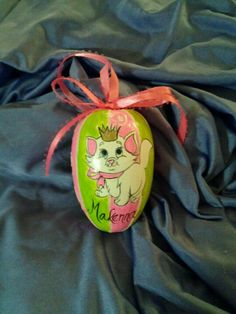 Wooden egg ornament