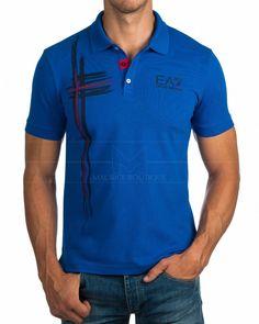 Polos EA7 Emporio Armani ® Azul Royal | ENVIO GRATIS