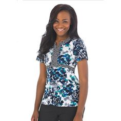 Find printed scrubs and nursing uniforms that are as unique as you are! Find fun, festive, and flattering tops! Nursing Scrubs, Scrub Tops, Empire, Tunic, Female, Sewing, Blouse, Unique, Hair