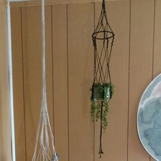 Hanging planters come with glass planter! Check out these macrame beauties at MamiesVintageWares!