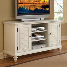 Have to have it. Home Styles Bermuda Entertainment Credenza - White Finish - $436.4 @hayneedle