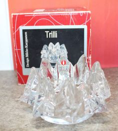 Iittala Nuutajarvi Finland Trilli Glass Candle Holder Clear Mikko Karppanen Box Candle Sticks, Glass Candle Holders, Light My Fire, Good Deeds, My Heritage, Finland, Beautiful Things, Glass Art, Pottery