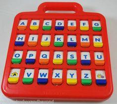 Fisher Price Flip Up Alphabet Learning Center 1991