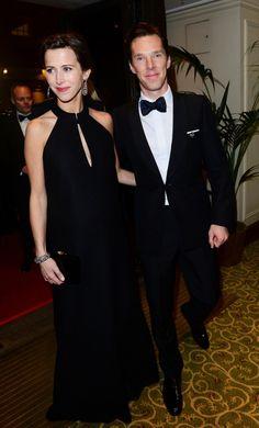 Benedict Cumberbatch and Sophie Hunter BAFTA 2015