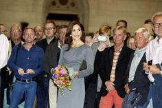 Crown Princess Mary glowing at the 'Equal Love Silver Anniversary' exhibition.