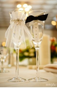 Cute wedding toast glass