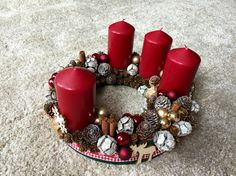 Advent Wreath 2 #homemade decoration#xmas