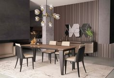 dinging t doggs piercing prices - Piercing Dining Table Design, Dining Table Chairs, Rooms Ideas, Luxury Dining Room, Dining Room Inspiration, Contemporary Interior, Luxury Interior, Apartment Interior, Interiores Design