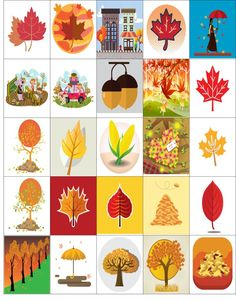 Free Printable-25 Fall Stickers For Your Happy Planner or Erin Condren Planner