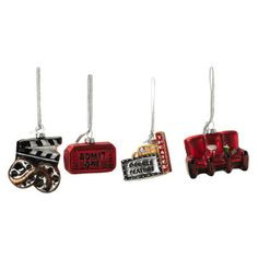Found by Fab: At The Movies Ornament Set Of 4