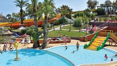 Camping Aloha - Languedoc - frankrijk - Zwembad. Eén van de zwembaden is een leuk zwembad voor kinderen/peuters met jungle-thema.