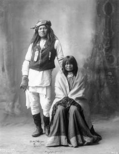 Henry Wilson and wife, Mojave (Apache) :: Photographs - Western History