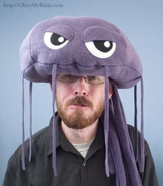 Jellyfish, Jellyfish, floating in the ocean.  Swimming, stinging, eating all the fish.    Whats that? Is that a jellyfish on my head, you ask? Why,