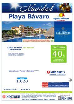 Playa Bávaro (Rep.Dominicana) Navidad - 40% Grand Bahía Príncipe Bávaro (vuelo directo a La Romana) salida 23 Diciembre desde Madrid - http://zocotours.com/playa-bavaro-rep-dominicana-navidad-40-grand-bahia-principe-bavaro-vuelo-directo-a-la-romana-salida-23-diciembre-desde-madrid/
