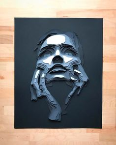 Sculptur Layered Paper Portraits by Shelley Castillo Garcia - Inspiration Grid 3d Paper Art, Paper Artwork, A Level Art, Grid Design, 3d Prints, Art Plastique, Paper Design, Sculpture Art, Paper Sculptures