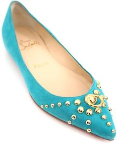 christian louboutin d'orsay pointed-toe flats