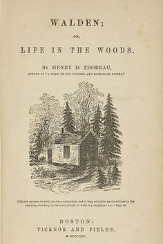 Walden; or, Life in the Woods by Henry David Thoreau | This timeless classic about simple living and self-sufficiency was written by Thoreau when he abandoned society in favor of a life alone in the woods by Walden Pond in Concord, Massachusetts.