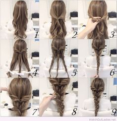 Very cute braid hairstyle tutorial