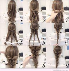 Very cute braid hairstyle tutorial