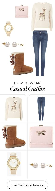 """""""Winter casual"""" by saralynnpirtle on Polyvore featuring 7 For All Mankind, Dorothy Perkins, UGG and Chico's"""