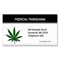 Weed Business Card