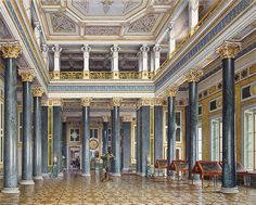 """Interiors of the Winter Palace"" by Luigi Premazzi."