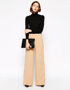 Image 1 - ASOS Premium - Pantalon large en crêpe