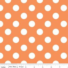 Riley Blake Flannel Basics Medium Dots Orange-Riley Blake Designs Flannel Fabric Basics Medium Polka Dots Orange F360-60, pajama pants