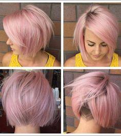 Super Cute Undercut for Short Pink Hair 2017