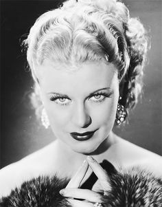 Ginger Rogers-one of my heroines. She did all the same moves as Fred Astaire did, except backwards and in high heels. Hollywood Icons, Old Hollywood Glamour, Golden Age Of Hollywood, Hollywood Stars, Hollywood Actresses, Classic Hollywood, Vintage Hollywood, Hollywood Divas, Old Movie Stars