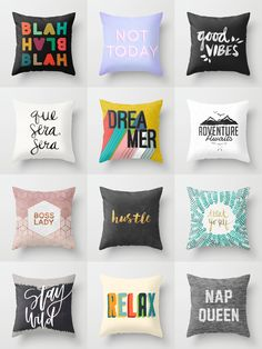 Shop unique and original throw pillows on Society6. Society6 is home to hundreds of thousands of artists from around the globe, uploading and selling their original works as 30+ premium consumer goods from Art Prints to Throw Blankets. They create, we produce and fulfill, and every purchase pays an artist.