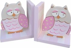 Wish Upon A Star Pink Owl Bookends