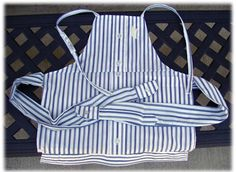 Man's shirt to apron for little boy.
