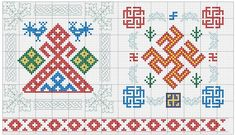 славянские обереги вышивка схемы -