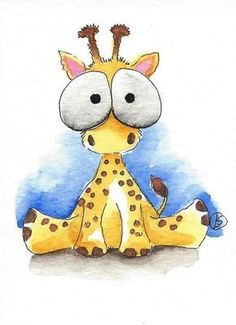 Details about ACEO Original watercolor painting Lucia Stewart whimsical animal Baby giraffe ACEO Original Aquarell Lucia Stewart skurrilen Tier Baby Giraffe … Cute Animal Drawings, Cartoon Drawings, Cartoon Art, Cute Drawings, Cute Giraffe Drawing, Giraffe Painting, Drawings Of Animals, Painting Canvas, Watercolor Paintings Of Animals