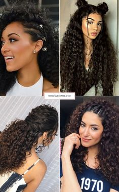 90 easy hairstyles for naturally curly hair - Hairstyles Trends Cute Hairstyles For School, Cute Curly Hairstyles, Afro Hairstyles, Curly Afro Hair, Curly Hair Styles, Natural Hair Styles, Birthday Hair, Bad Hair Day, How To Make Hair