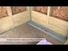 StreamLine Linear Shower Drain Installation - Full Mortar and Thin Bed - YouTube