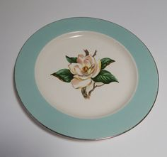 Vintage Lifetime China Co. Dinner Plate Turquoise by FairfaxDavis, $15.00