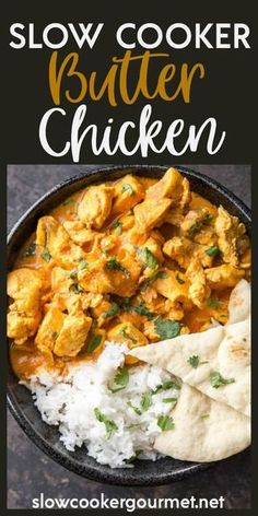 Slow Cooker Butter Chicken is a true family favorite recipe that you will make again and again. Delicous flavors and simple prep make this perfect for dinner on busy nights!
