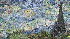 雑誌のスクラップがゴッホの絵画に?気鋭の現代美術家ヴィック・ムニーズ 画像