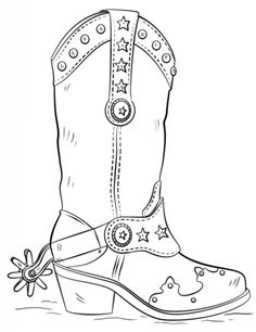 Cowboy boot pattern Use the printable