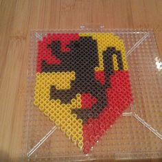 Harry Potter Gryffindor crest perler beads by Eleka Peka