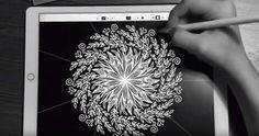 Una aplicación para iPad en donde puedes hacer diseños geométricos, casi como los que se pueden hacer en un espirógrafo. Pero estos diseños se ven mejor cu